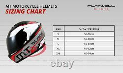Mt Streetfighter Modular Motorcycle Helmet Crash LID Urbain Avec Mask Adventure