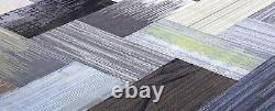 New Shaw Brand Carpet Tile Planks Modular Gray Black Silver Colors 540 Pieds Carrés