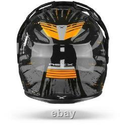 Nexx X. Vilijord Mudvalley Black Grey Orange Modular Motorcycle Helmet, Nouveau