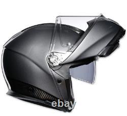 Nouveau Casque Full-face En Carbone Modulaire Agv Sport L Black/grey #1201o4iy002l
