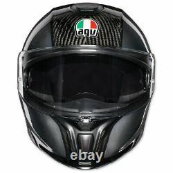 Nouveau Casque Full-face En Carbone Modulaire Agv Sport S Black/grey #1201o4iy002s