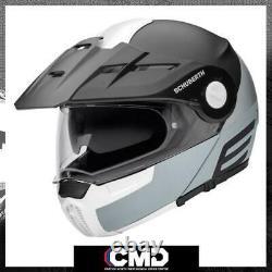 Schuberth E1 Cut Grey Adventure Flip Up Avant Casque Modulaire De Moto