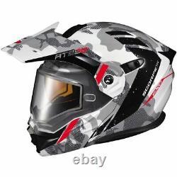 Scorpion Exo Exo-at950 Outrigger Modular Helmet-grey/wht/blk, Toutes Tailles