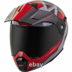 Scorpion Exo Exo-at950 Tuscon Modular Dual Sport Helmet-red/grey/blk, Toutes Tailles