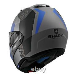 Shark Evo-one-2 Slasher Casque Gris Foncé-noir-bleu