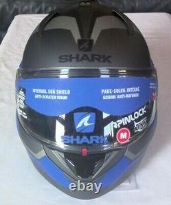 Shark Evo-one 2 Slasher Casque Modulaire Flip-up En Gris Mat / Noir Taille Moyenne