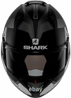Shark Evo-one 2 Slasher - Casque Modulaire Flip-up -matte Black/grey/white -x-large