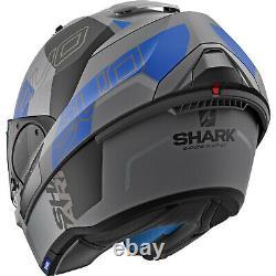 Shark Evo-one 2 Slasher Modular Helmet Gray/black/blue XXL (king Size)
